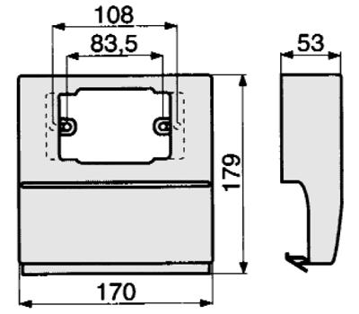 03421 Штамп прямоугольный 22.0х42.0 для АР 800